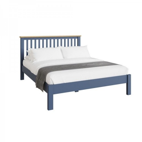 Wittenham Painted Furniture Blue Painted 4'6 Double Bed