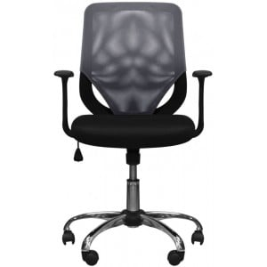 Alphason Furniture Atlanta Black and Grey Mesh Fabric Operator Chair