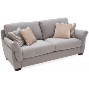 Vida Living Furniture Beckett Taupe Fabric 2 Seater Sofa