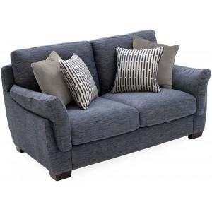 Vida Living Furniture Beckett Blue Fabric 3 Seater Sofa