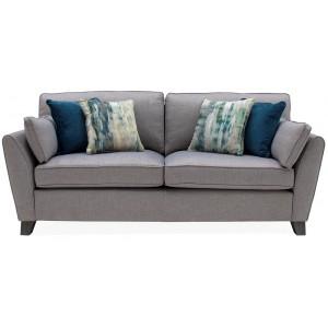 Vida Living Furniture Cantrell Grey Fabric 3 Seater Sofa