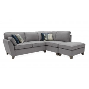 Vida Living Furniture Cantrell Grey RFH Corner Group with 4 Scatter Cushions