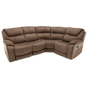 Vida Living Furniture Santiago Brown Corner Group Armless Static 1 Seater Sofa