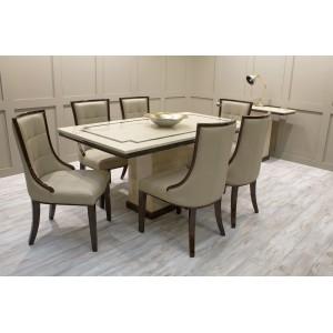 Vida Living Furniture Alfredo 160cm 6 Seat Rectangular Dining Set