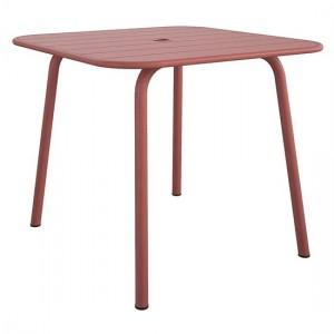 Novogratz Furniture June Persimmon Red Square Metal Dining Table