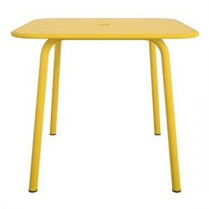 Novogratz Furniture June Yellow Square Metal Dining Table