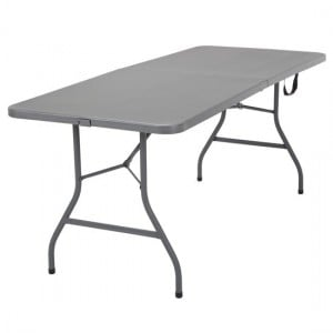 Cosco Folding Furniture Signature Series Grey Blow Molded Centerfold Table