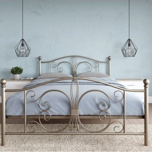 Alphason Furniture Bombay Bronze Metal 5ft King Size Bed