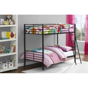 Contemporary Metal Furniture 3ft Single Over Double Bunk Bed