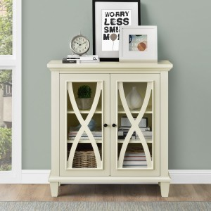 Ellington Ivory Painted Furniture Double Door Accent Cabinet