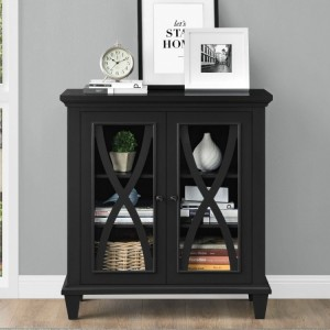 Ellington Black Painted Furniture Double Door Accent Cabinet