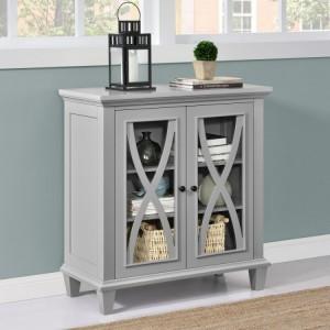 Ellington Grey Painted Furniture Double Door Accent Cabinet