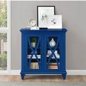 Ellington Blue Painted Furniture Double Door Accent Cabinet