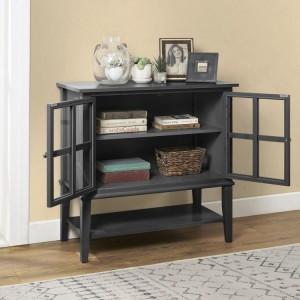 Franklin Wooden Furniture Black 2 Door Storage Cabinet