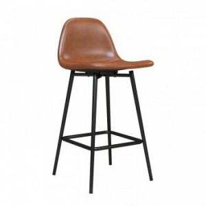 Alphason Furniture Calvin Camel Upholstered Counter Stool