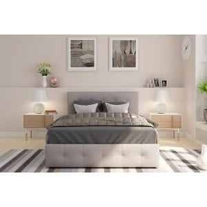 Rose Upholstered Furniture 4ft6 Double Bed With Under Storage