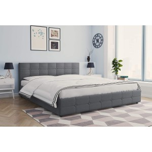 Rose Upholstered Furniture 5ft King Size Bed With Under Storage