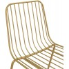 Porthcawl Metal Furniture Gold Wire Dining Chairs in Pair