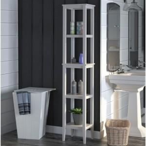 Franklin Wooden Furniture White Storage Tower