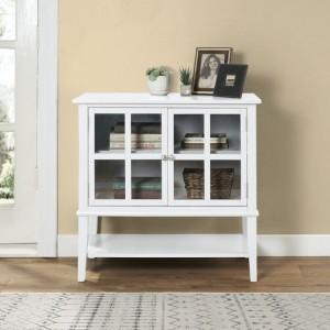 Franklin Wooden Furniture White 2 Door Storage Cabinet