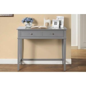 Franklin Wooden Furniture Grey Writing Desk