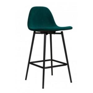 Alphason Furniture Calvin Velvet Green Upholstered Counter Stool