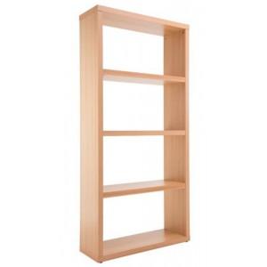 Alphason Furniture Maine Beech Effect 4 Shelf Wide Bookcase