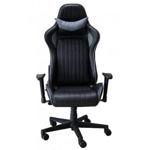 Alphason Office Furniture Senna Black and Grey Leather Fully Adjustable Gaming Chair