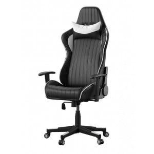 Alphason Furniture Senna Black and White Faux Leather Gaming Chair
