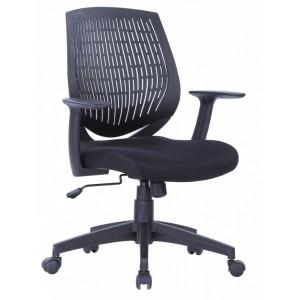 Alphason Furniture Malibu Black Fabric Seat Office Chair