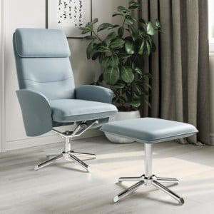 Alphason Furniture Belding Grey Reclining Chair with Footstool Set