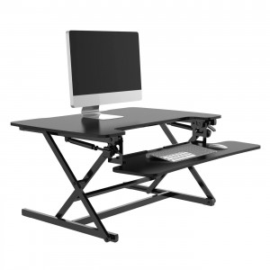 Alphason Furniture Black Height Adjustable Desktop Riser