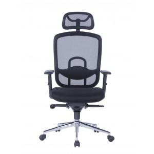 Alphason Office Furniture Miami Black Mesh Back Chair