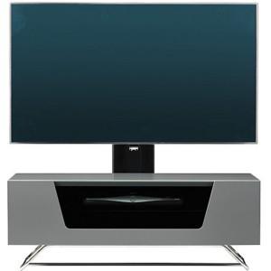 Alphason Furniture Chromium Grey Glass Tv Stand With Bracket