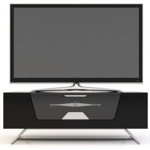 Alphason Furniture Chromium Black 2 Shelves TV Stand