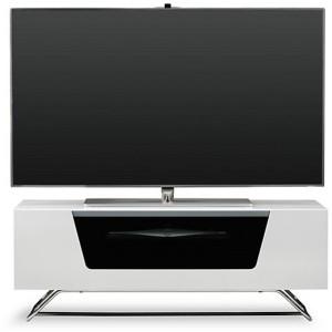 Alphason Furniture Chromium White Glass TV Stand