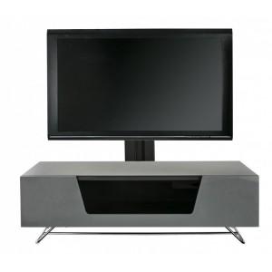 Alphason Furniture Chromium Grey Glass Tv Cabinet