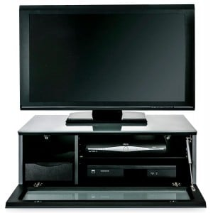 Alphason Furniture Element Modular Glass Top Grey TV Stand