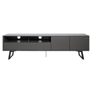 Alphason Furniture Carbon Grey Open Shelf TV Stand
