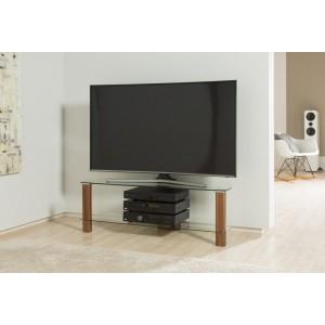 Alphason Furniture Century Walnut Glass Shelf TV Stand