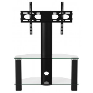 Alphason Furniture Century Black 2 Shelf TV Stand with Bracket