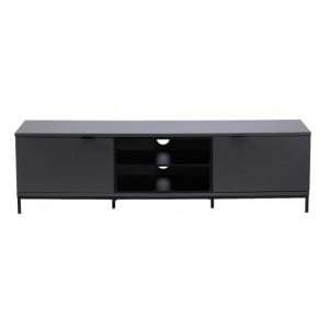 Alphason Furniture Chaplin  Charcoal Central Open Shelf TV Cabinet