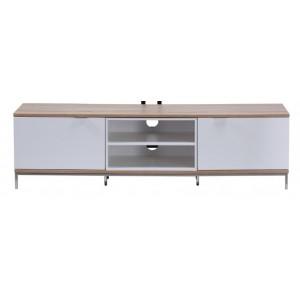 Alphason Furniture Chaplin White and Light Oak TV Cabinet
