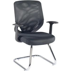 Alphason Furniture Atlanta Black Mesh Back Visitor Chair