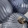 Zipporah 80mm Ice Blue Swirl Baubles Trees Decoration