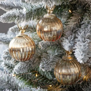 Jericho 75mm Gold Stag Baubles Trees Decoration