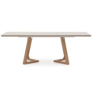 Vida Living Jenoah High Gloss Furniture Grey 160-200cm Extending Dining Table