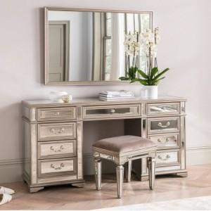 Vida Living Jessica Mirrored Furniture Large Dressing Table Set