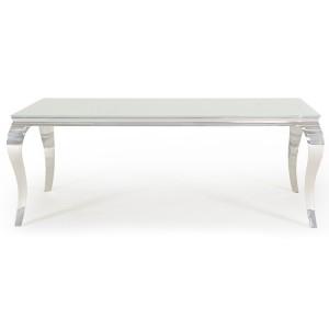 Vida Living Louis Metal Furniture White 200cm Dining Table