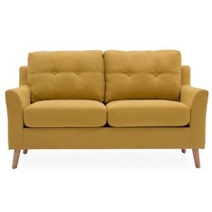 Vida Living Furniture Olten Citrus Yellow Fabric 2 Seater Sofa